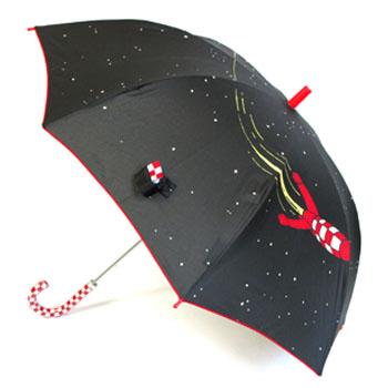 傘/パネルプリントロケット/ブラック