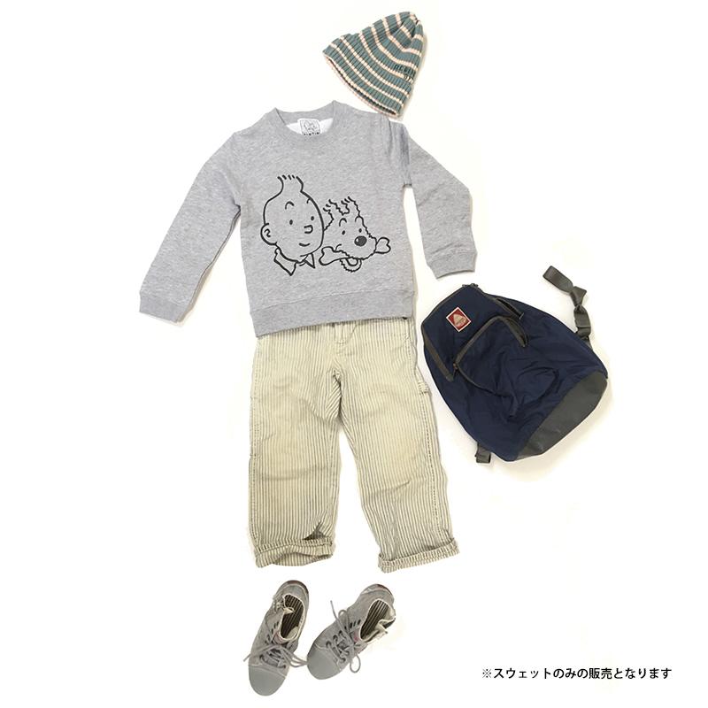 KIDSスウェット/フェイス/グレー/110-130