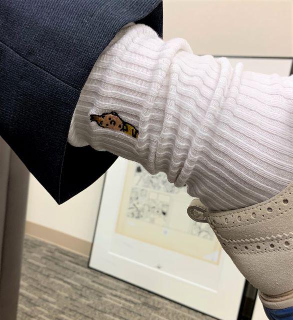 靴下 / のぞきT&S / ホワイト