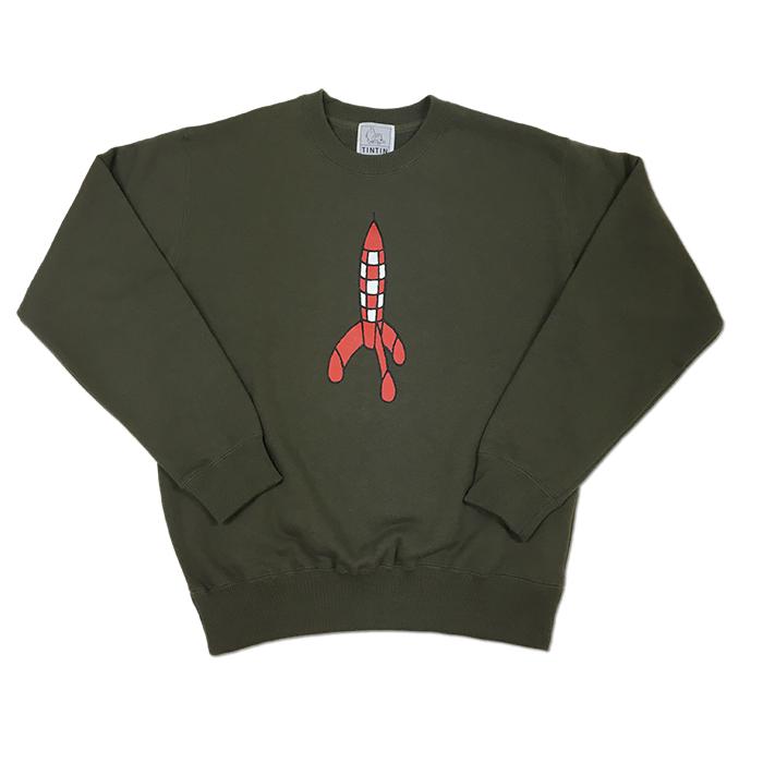 スウェットシャツ/ロケット/オリーブ/ S-XL