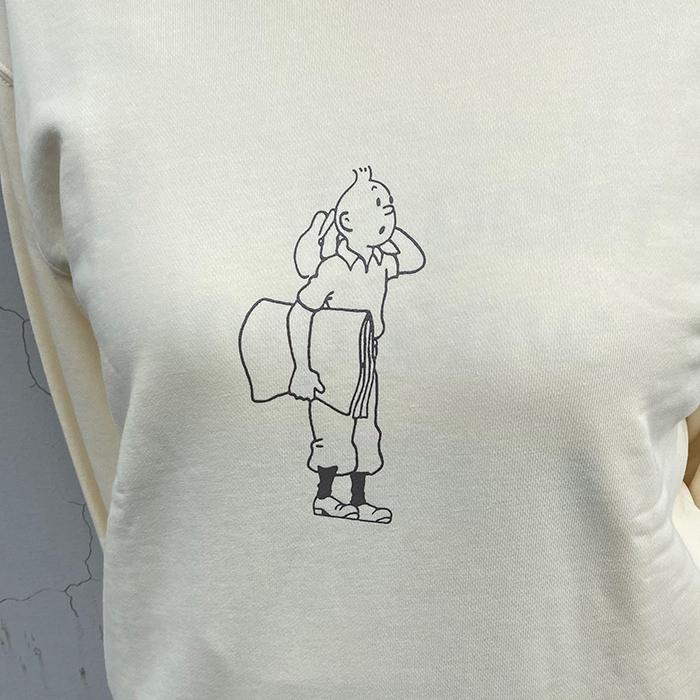 スウェットシャツ/タンタンNP/クリーム/S-XL