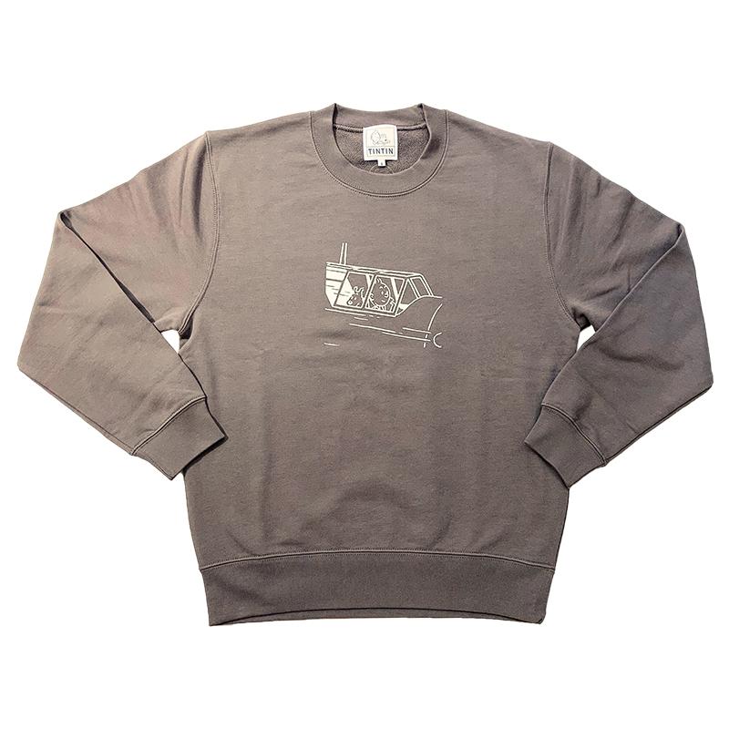 スウェットシャツ/PLANE/チャコール/S-XL