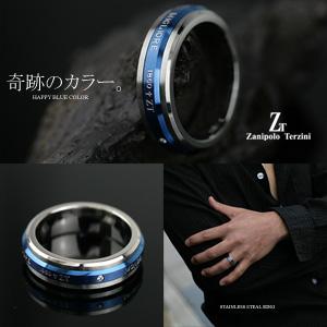サージカルステンレススチール(316L)キュービックジルコニア メンズ リング(ZTR1303)(Zanipolo Terzini(ザニポロ・タルツィーニ))ジュエリー 通販 ギフト 絆 指輪