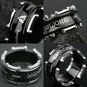 サージカルステンレススチール(316L) メンズ リング(ZTR1019)(Zanipolo Terzini(ザニポロ・タルツィーニ))ジュエリー 通販 ギフト 絆 指輪