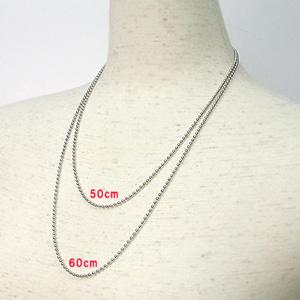 (即納可)チタン ネックレス ボール2.4mmチェーン (IP加工済み)50cm、60cm 金属アレルギー対応 チタンチェーン チタンネックレス チタンチェーン 通販 ギフト プレゼント 安心