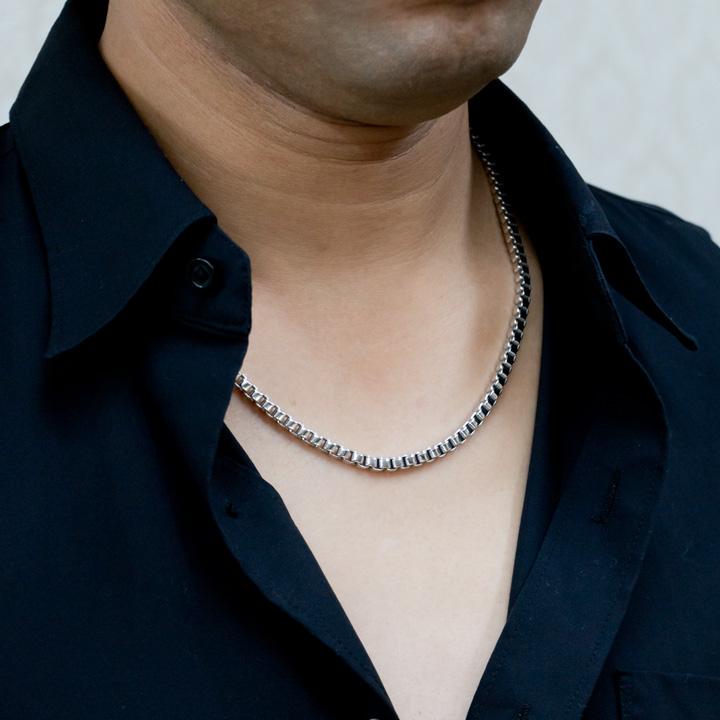 純チタン ベネチアン チェーン 50cm ネックレス 【送料無料】 金属アレルギー 安心