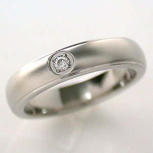 TITAN(純チタン) ダイヤモンド (4月の 誕生石 ) リング 【送料無料】 指輪 金属アレルギー 安心 チタン 誕生石 リング