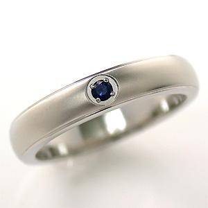 TITAN(純チタン) サファイア(9月の誕生石) リング【送料無料】 指輪 金属アレルギー 安心 チタン 誕生石 リング
