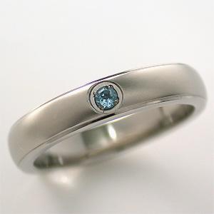 TITAN(純チタン) ブルートパーズ(11月の誕生石) リング【送料無料】 指輪 金属アレルギー 安心 チタン 誕生石 リング