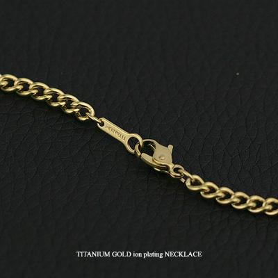 (即納可) チタンネックレス 喜平60cm 3.3mm (ゴールド イオン プレーティング加工)( メンズ/ ) 金属アレルギー対応 チタンチェーン チタンネックレス チタンチェーン 通販 ギフト プレゼント メンズチェーン 安心
