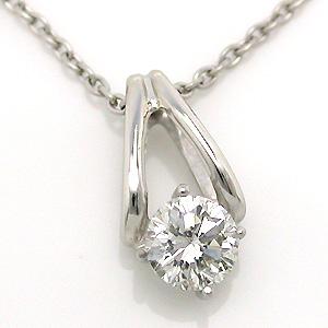 チタンダイヤモンドネックレス0.3ct プラチナコーティング (金属アレルギーの方にも使えます)(4月の誕生石) チタンペンダント(鑑定書付き) 【送料無料】 レディースネックレス 絆 誕生日プレゼント 安心