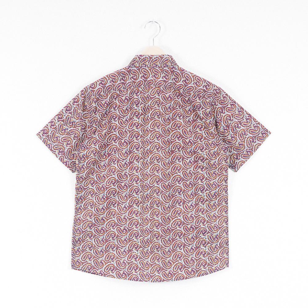 ペイズリー3本針S/Sワークシャツ KATO`