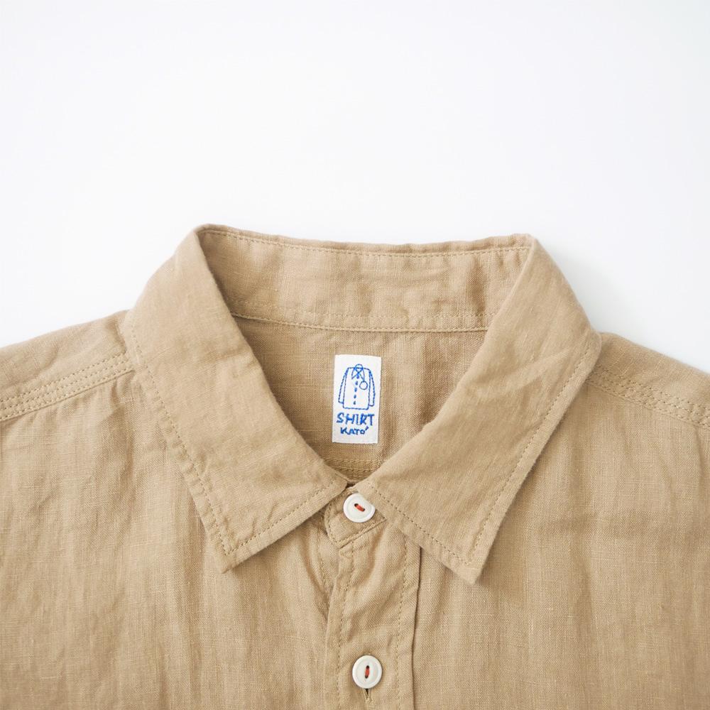 リネン3本針S/Sワークシャツ - KATO`