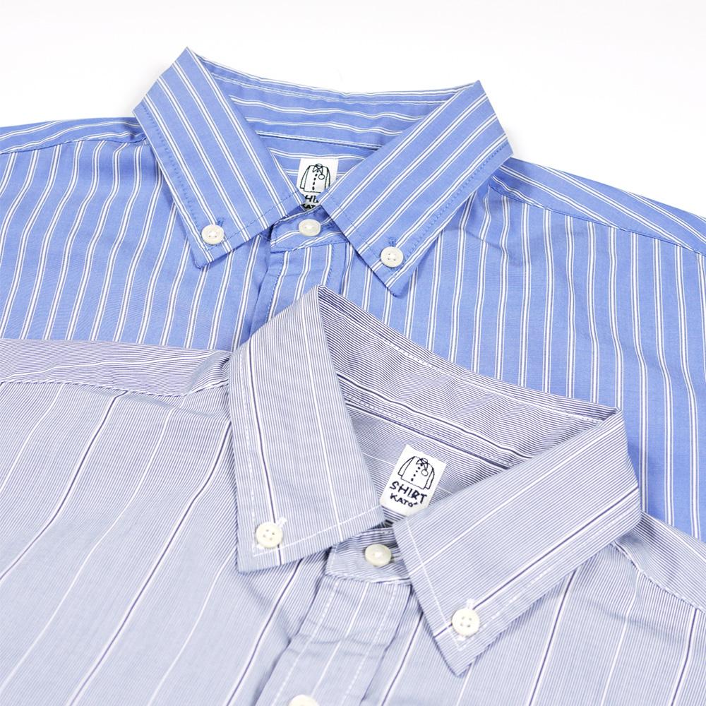 ストライプワイドBDシャツ - KATO`