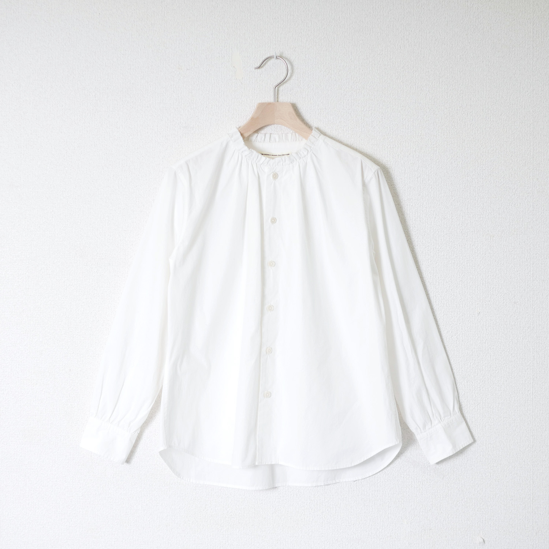 タイプライターフリルギャザーシャツ GRANDMA MAMA DAUGHTER