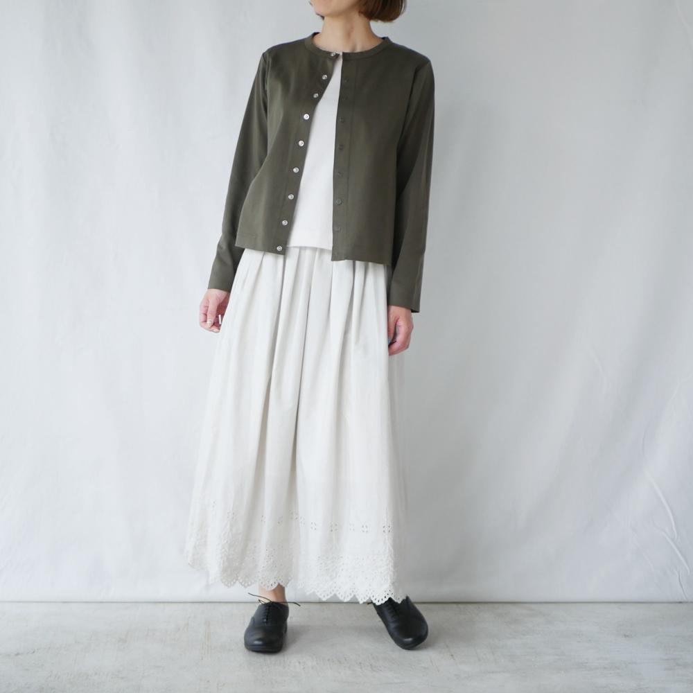 スナップボタンクルーネックカーデ- GRANDMA MAMA DAUGHTER