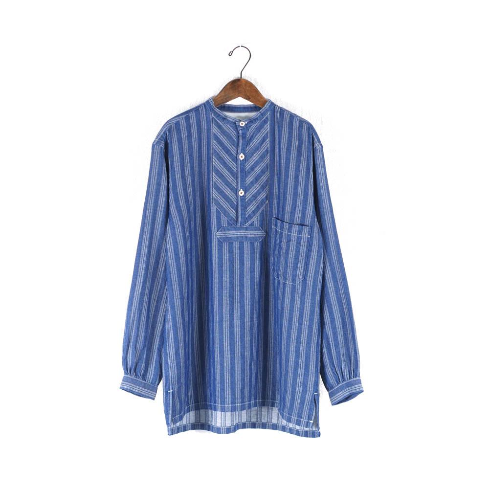 インディゴジャガードグランパシャツ KATO`