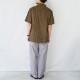 レトロ花柄オープンカラー半袖シャツ - KATO`