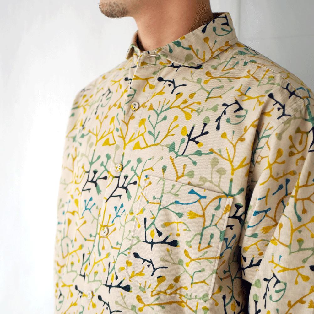 TSUTAKUSA ラウンドカラーシャツ - KATO`