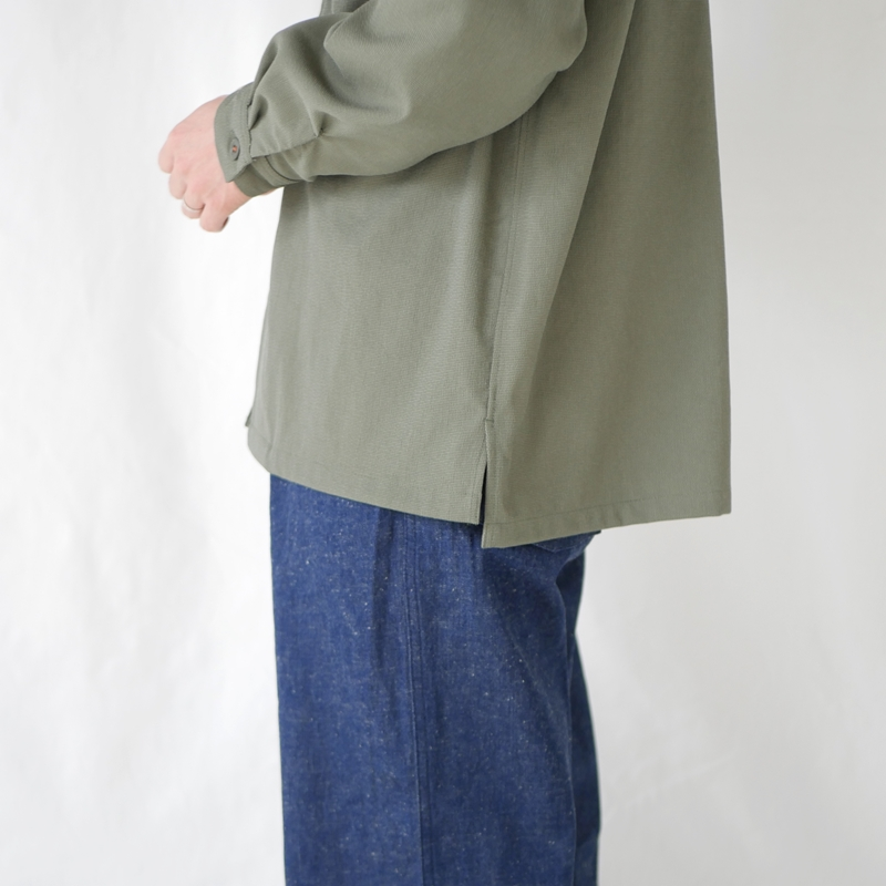 ヴィンテージナイロンオープンカラーワークシャツジャケット KATO`