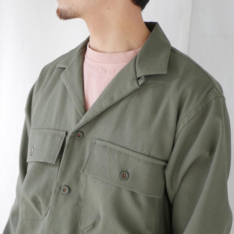 ヴィンテージナイロンオープンカラーワークシャツ KATO`