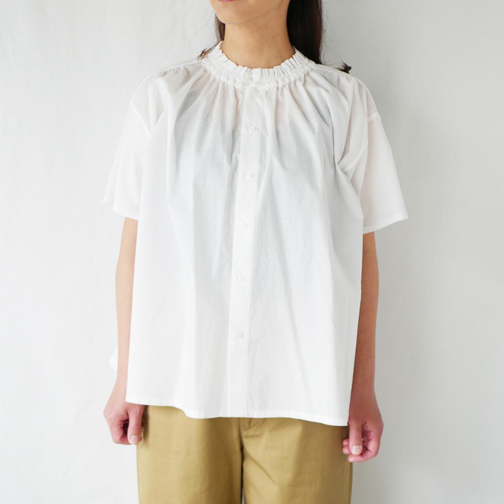 ローンH/Sシャーリングフリルシャツ - GRANDMA MAMA DAUGHTER