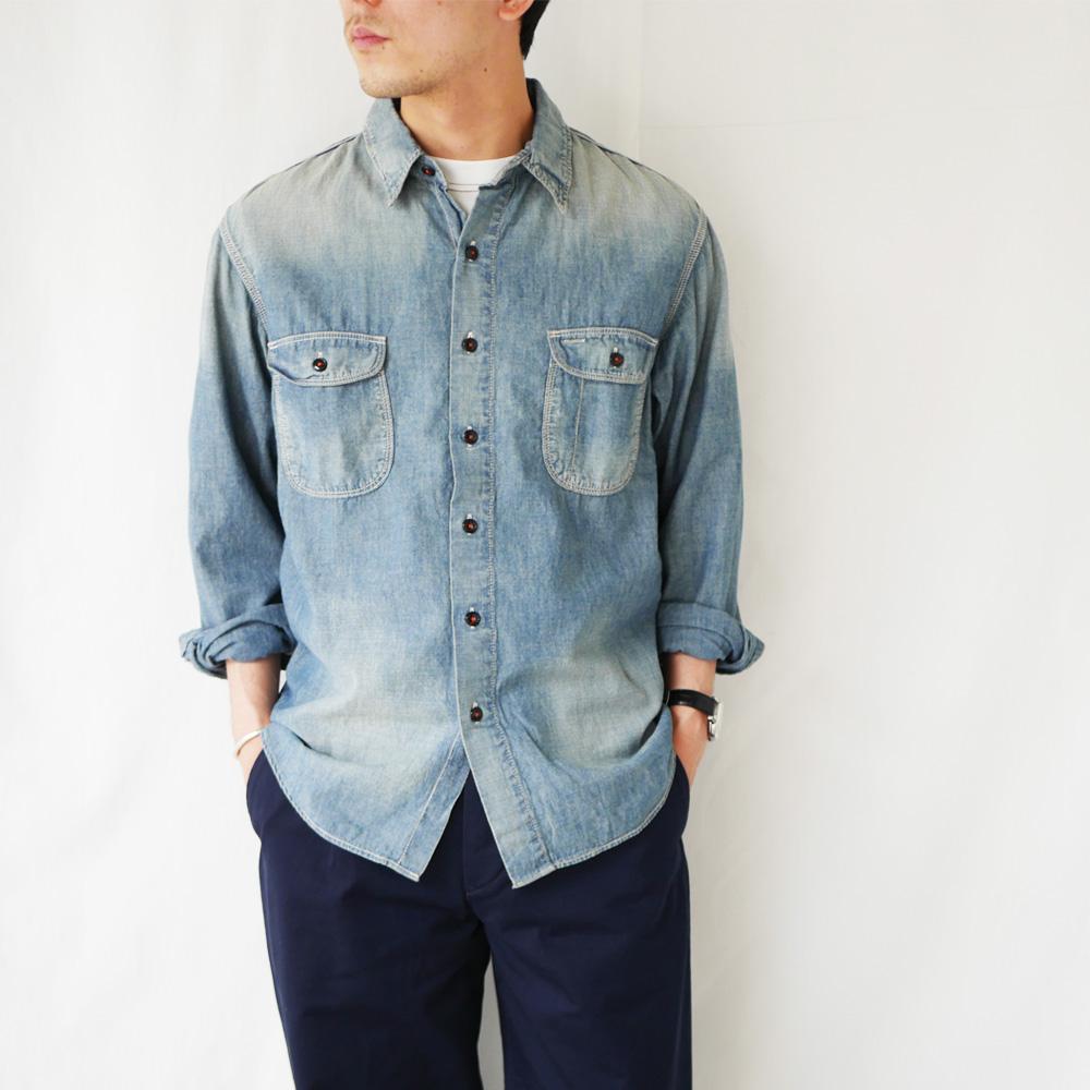 ヴィンテージ シャンブレーワークシャツ - AAA