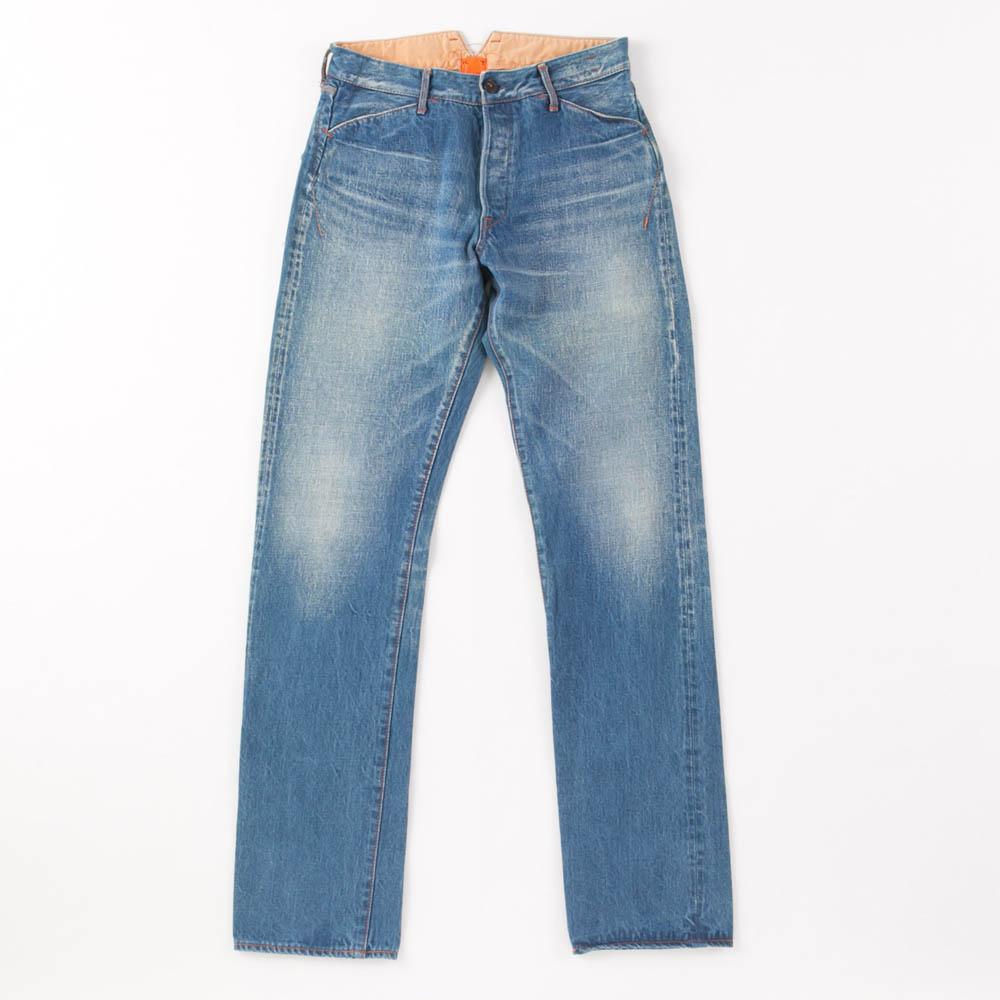 Vintage Buckle Back Denim Pants KATO`