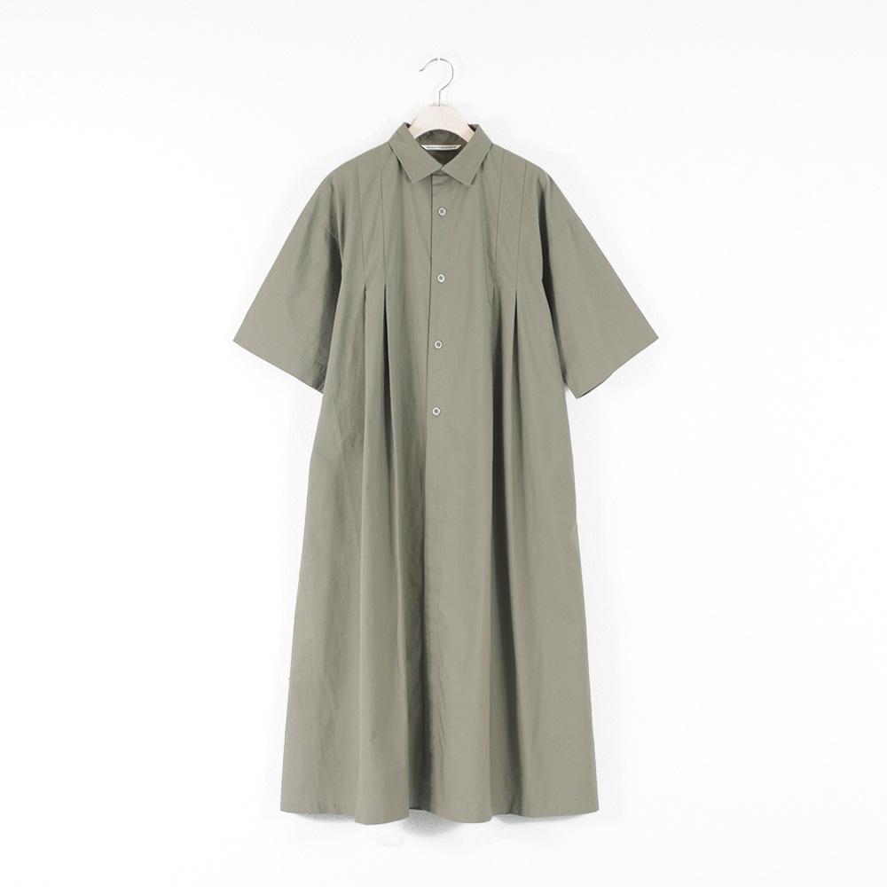 タックワイドシャツコートワンピース - GRANDMA MAMA DAUGHTER