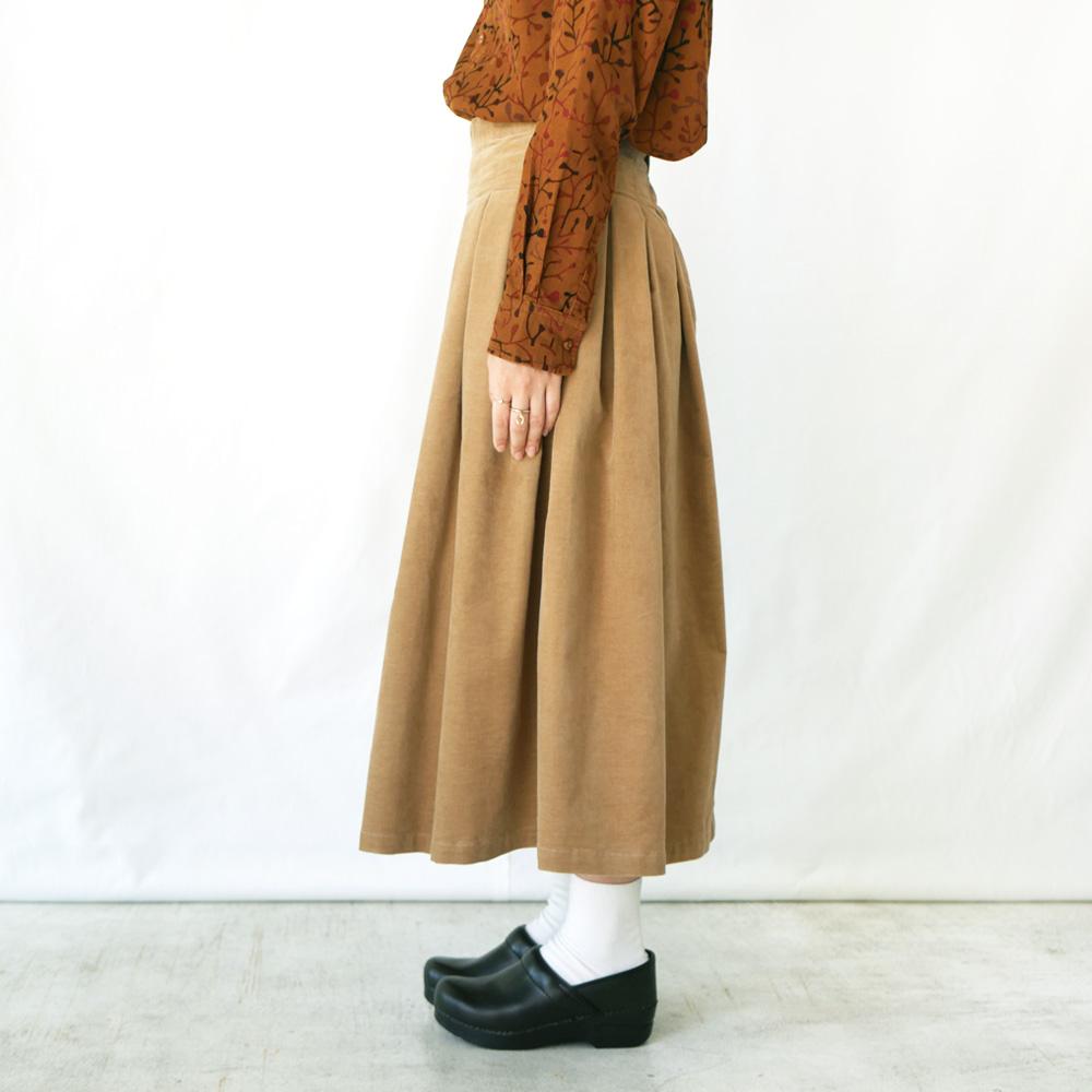 別珍タックプリーツスカート-GRANDMA MAMA DAUGHTER