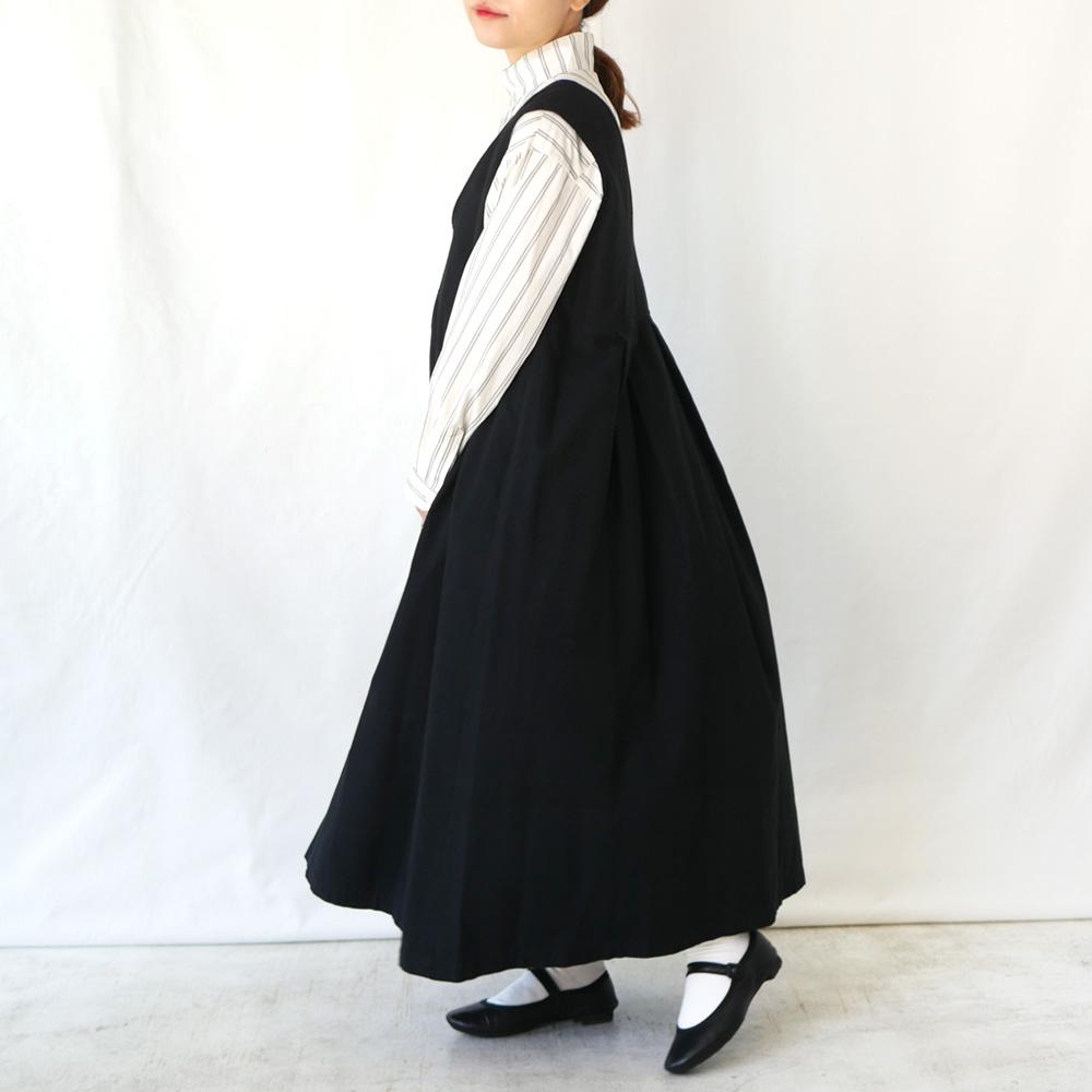 モールスキンV/Nジャンパースカート - GRANDMA MAMA DAUGHTER