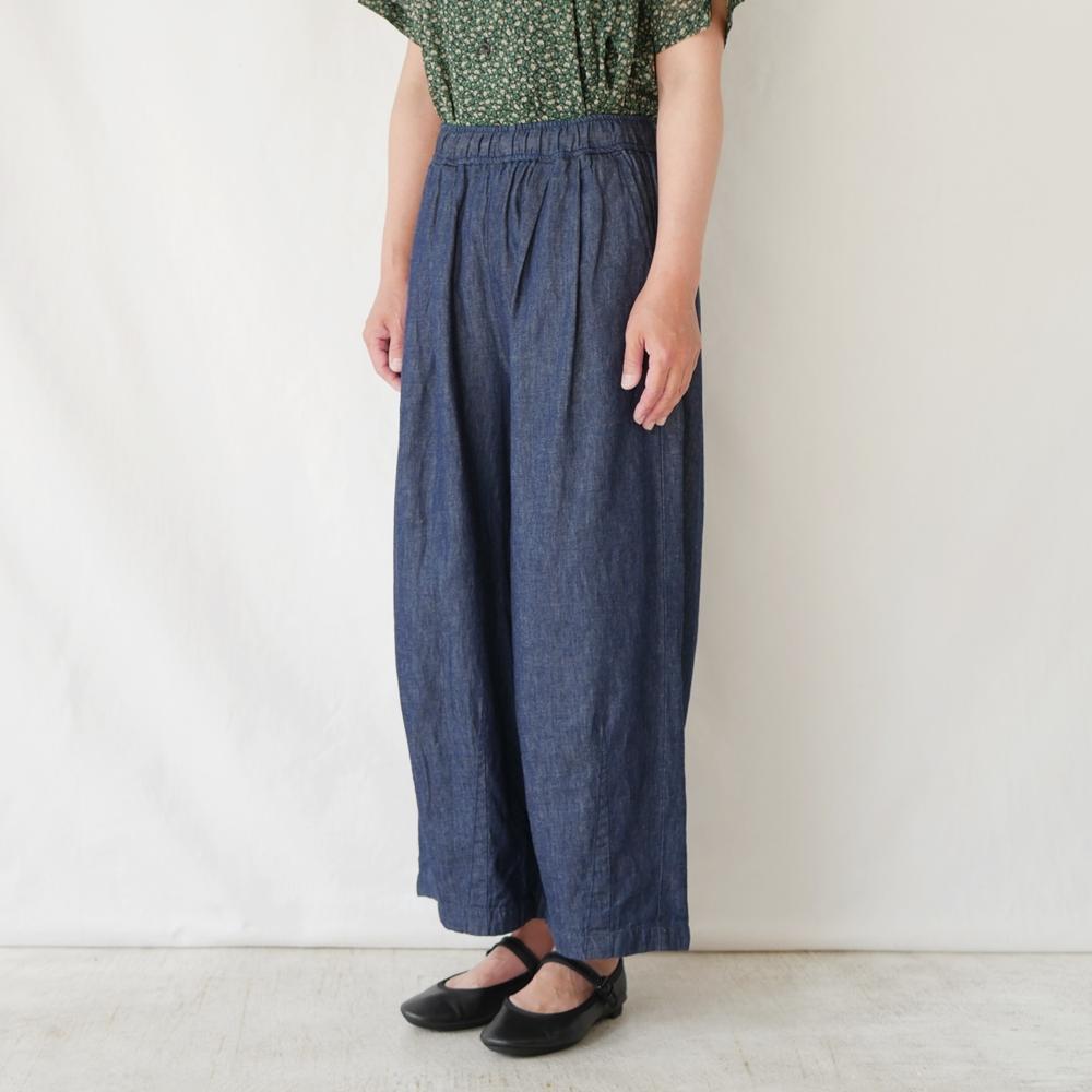 【通常価格¥22,000】デニムイージーコクーンパンツ - GRANDMA MAMA DAUGHTER