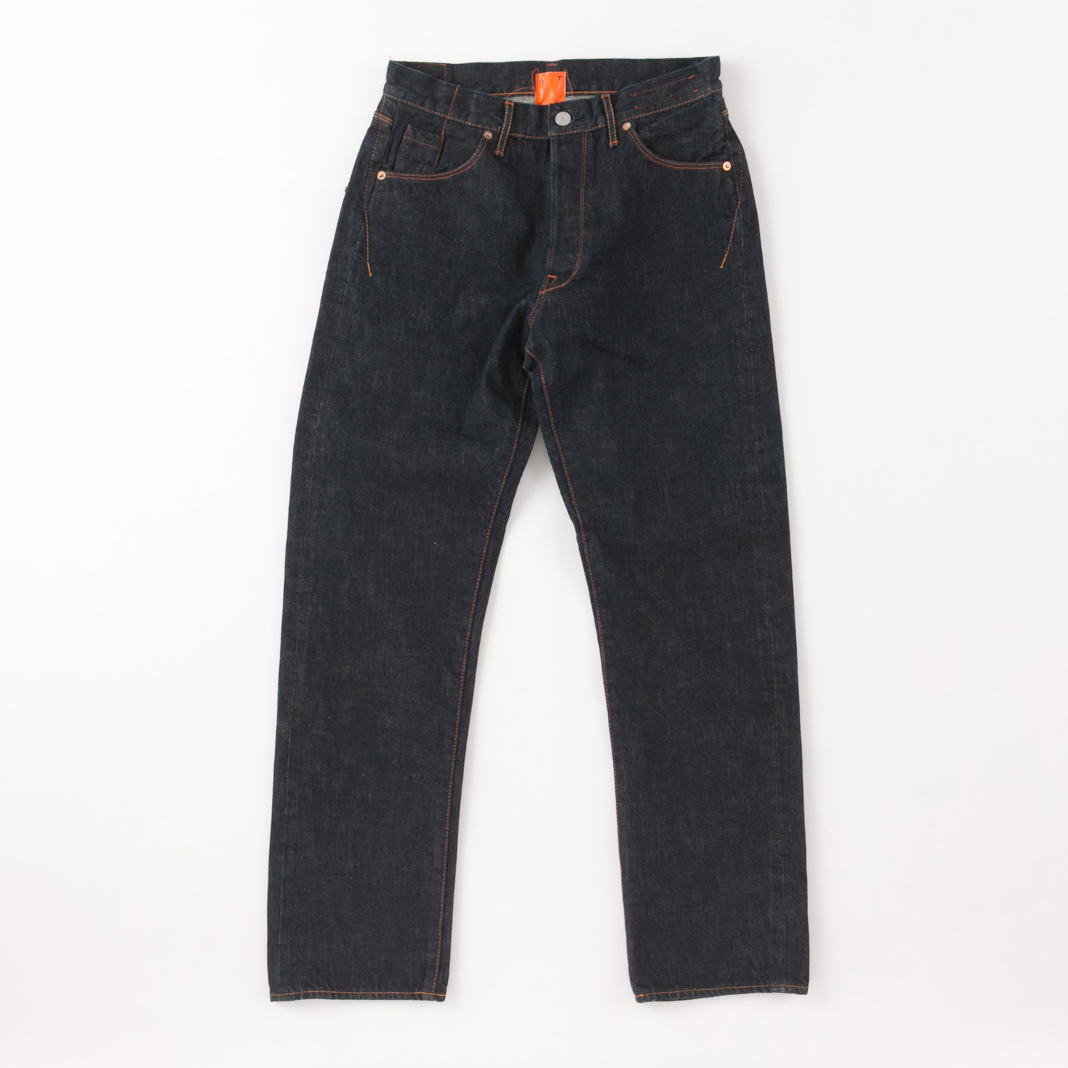 Back Flap Pocket Straight Denim Pants KATO`