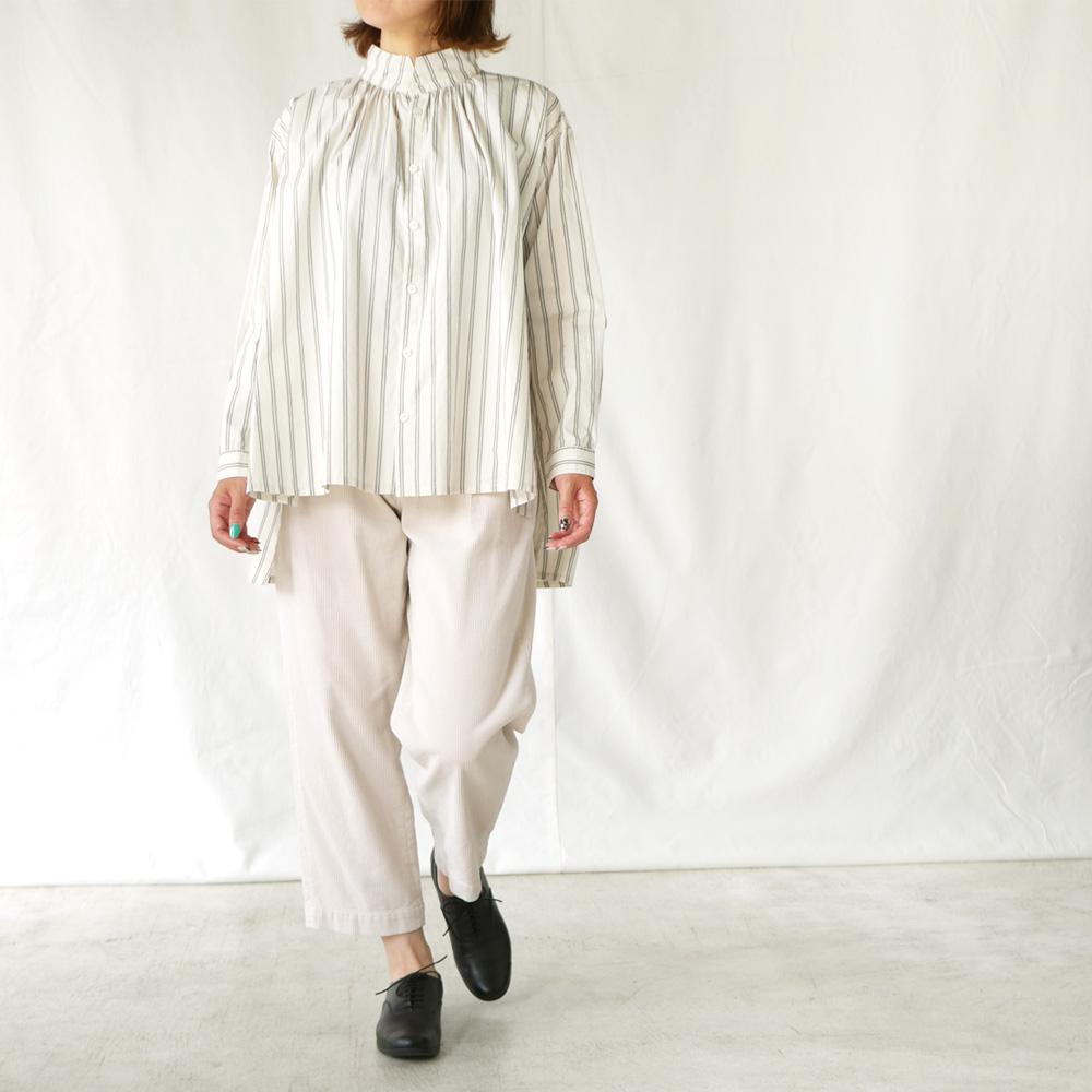 ステップカラーロングシャツ - GRANDMA MAMA DAUGHTER