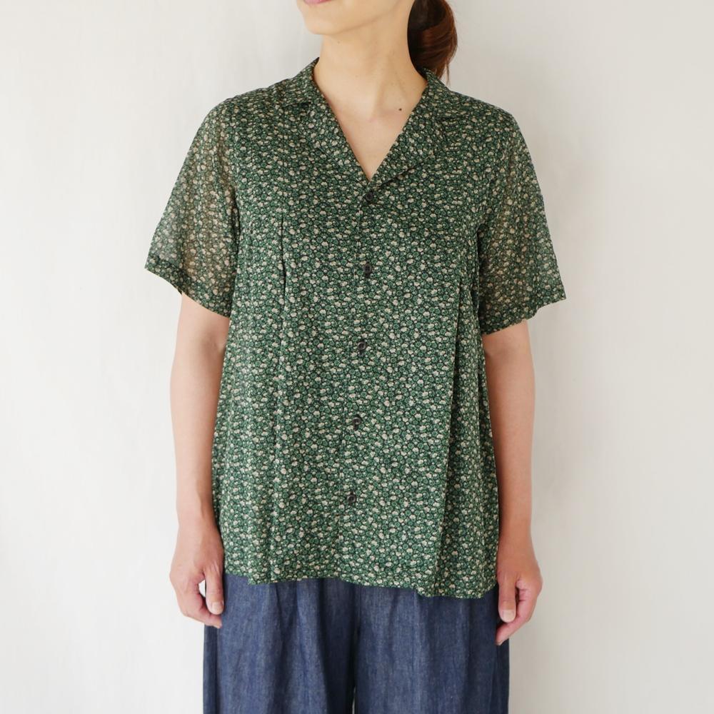 小花柄オープンカラーシャツ - GRANDMA MAMA DAUGHTER