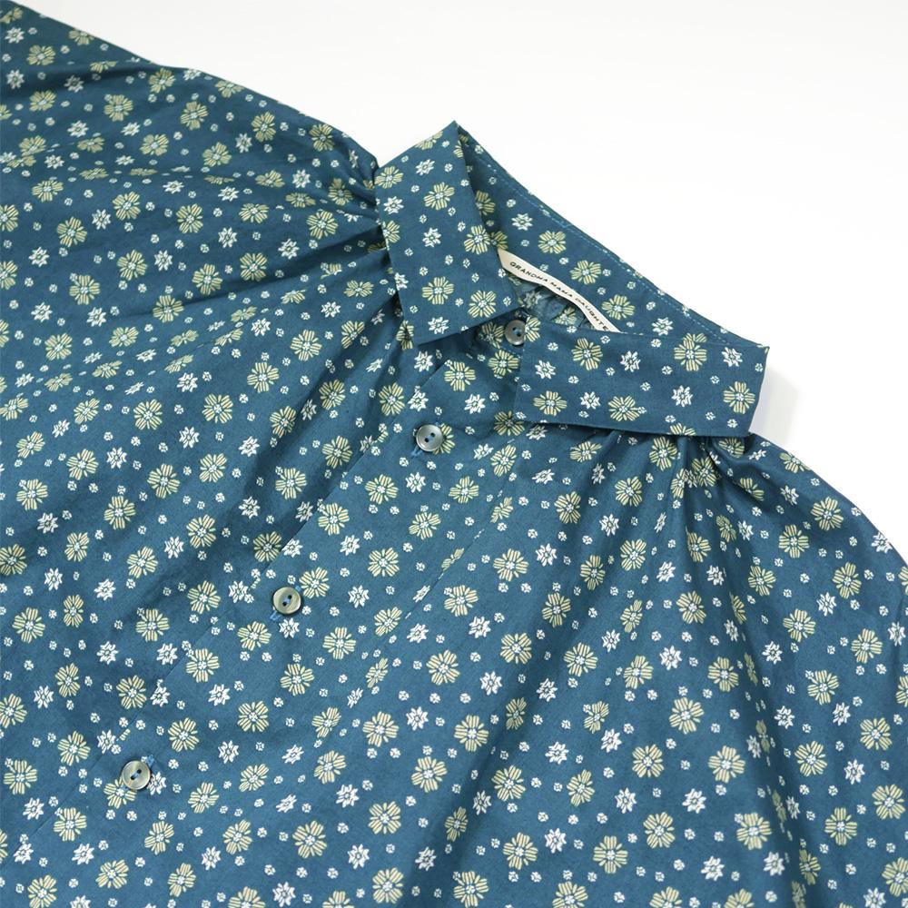 花柄Aラインギャザーシャツ - GRANDMA MAMA DAUGHTER