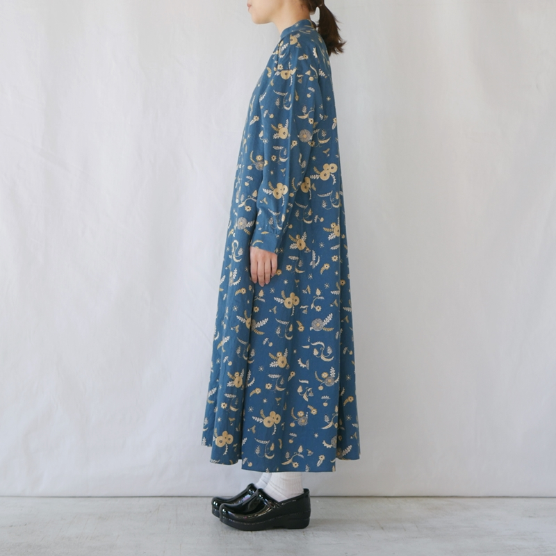「MICHIKUSA」Aラインシャツワンピース GRANDMA MAMA DAUGHTER