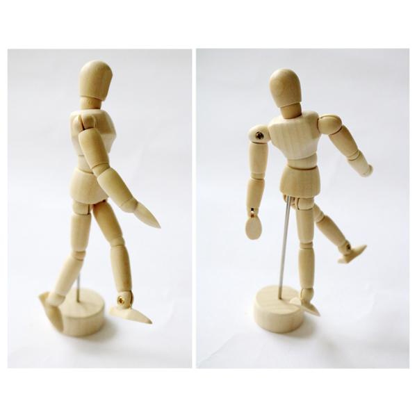 モデル人形SS (11.4cm) 木製 土台付き 4986441314011