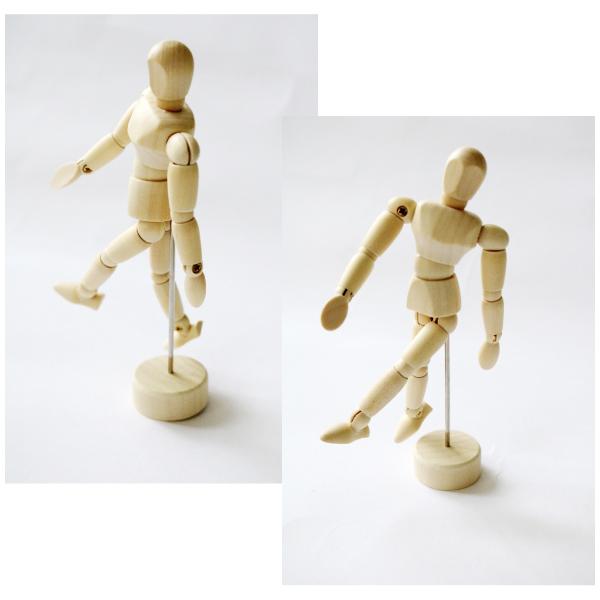 モデル人形M  (20cm) 木製 土台付き  4986441314035