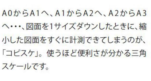 A列 コピー用 (コピスケ) 15cm 【1/20 1/30 1/50 1/100 1/250 原寸1/100】