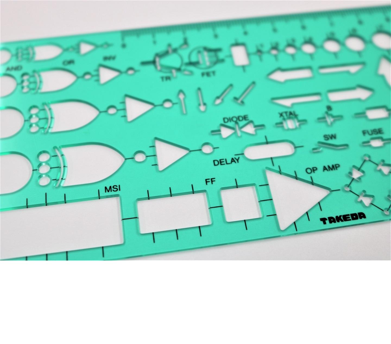 テンプレート 電気回路定規【29-0158】