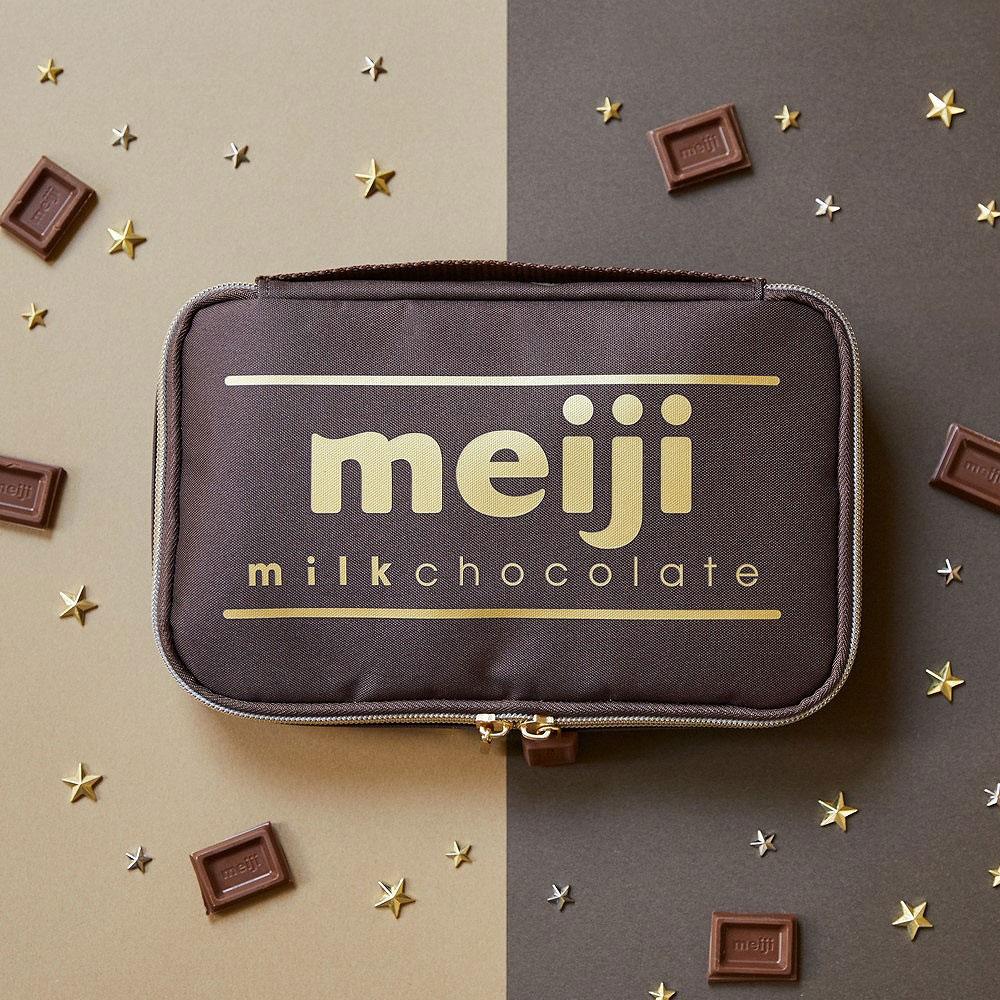 ムック本付録【明治ミルクチョコレート マルチポーチ】2021年10月21日発売
