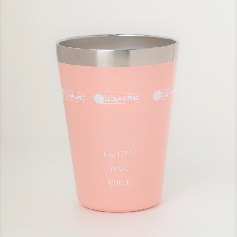 LESPORTSAC COLLECTION BOOK CUP COFFEE TUMBLER/PINK