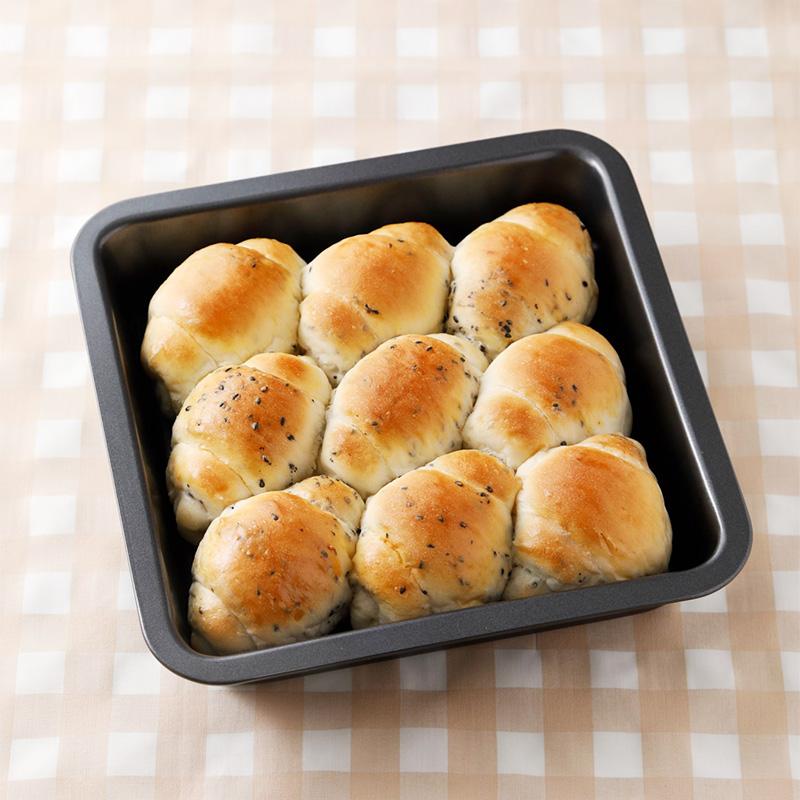 NEWスクエア型付き! 日本一簡単に家で焼ける 1時間でちぎりパンレシピ