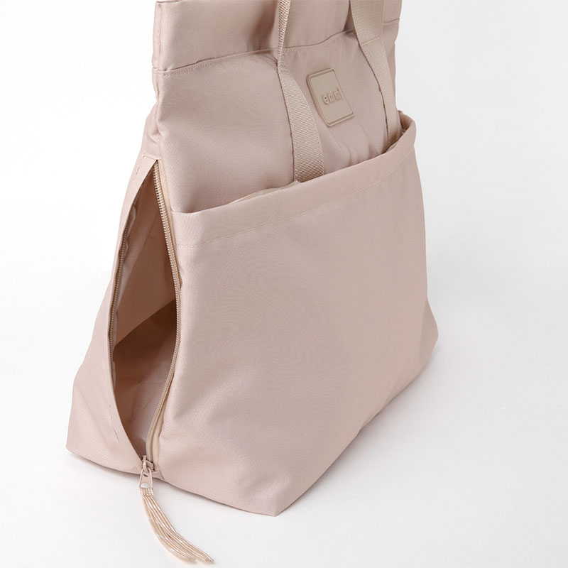 emmi active tote bag book beige