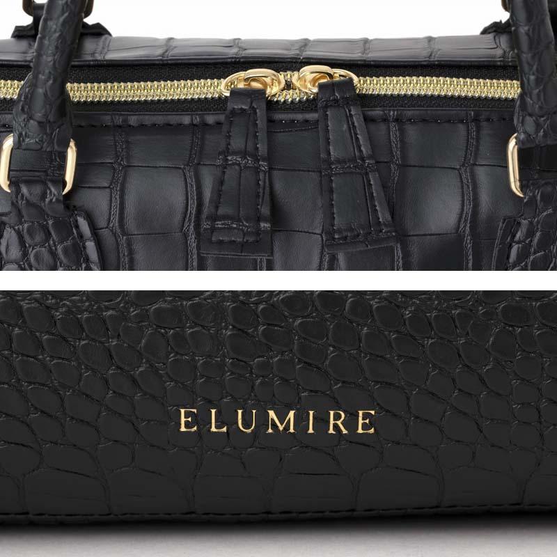 ELUMIRE 2WAY CROCO BAG BOOK