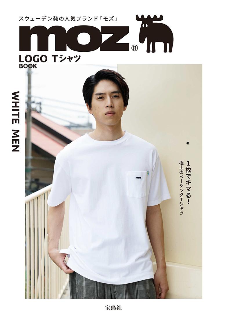 moz LOGO Tシャツ BOOK WHITE MEN