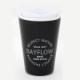 BAYFLOW CUP COFFEE TUMBLER BOOK MATTE BLACK