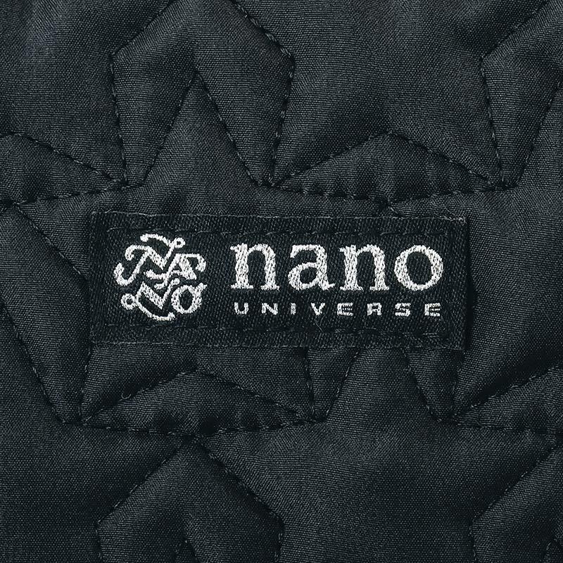 nano universe 10Pockets 軽量キルティングショルダーバッグBOOK POWER UP Ver.-BLACK-