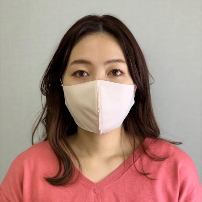 小顔シェーディングマスク 【ピンク×ベージュ】